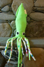 Load image into Gallery viewer, Squid Stuffed Animal - Ding Ding Dillio Crafts (click to see full collection of colours)