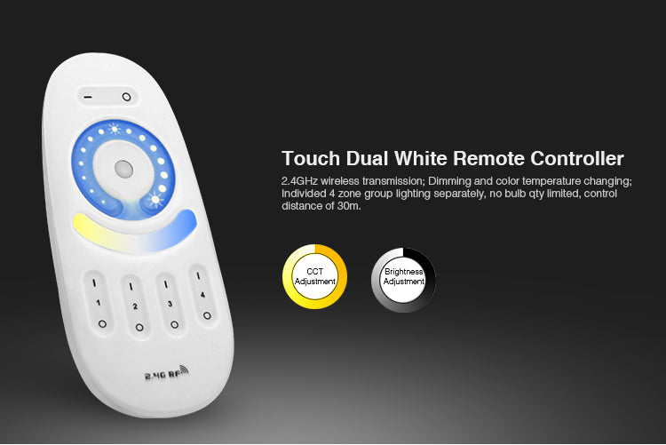 2.4GHz Dual Tone Full Touch 4-zone Remote Controller