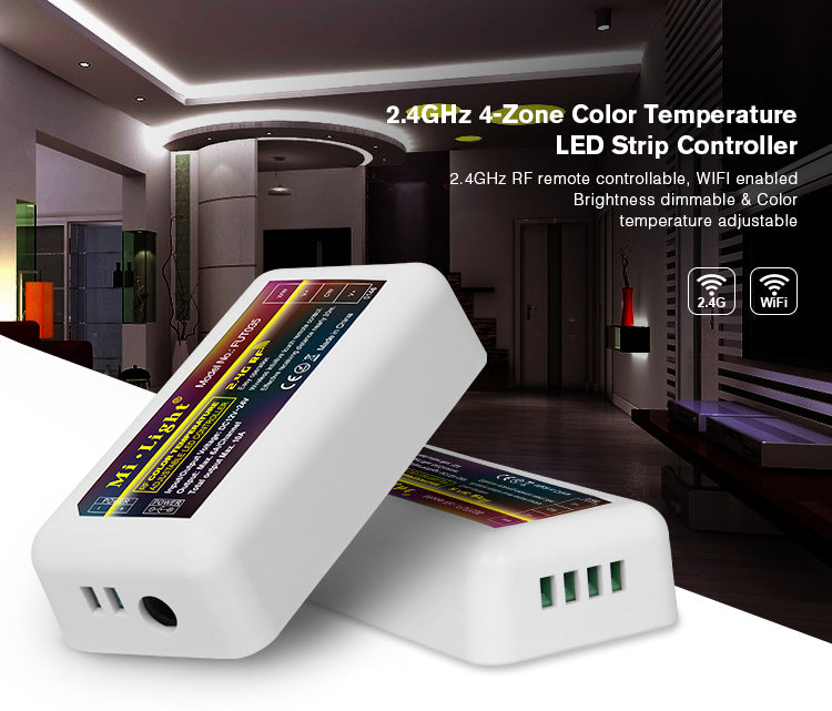 2.4GHz RF 4-Zone Dual Tone Strip Light Control Unit