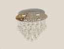 FluxTech - Modern Oval Droplet Crystal Chandelier Ceiling Light Fixture