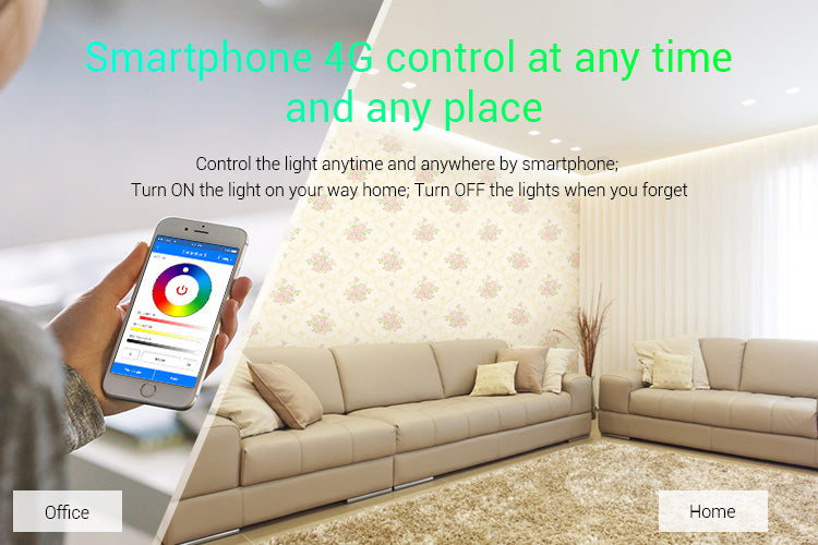 FluxTech ® MiBoxer 5 in 1 Smart WiFi LED Strip Controller, Amazon Alexa Voice Control Remote, Google Assistant and APP Control