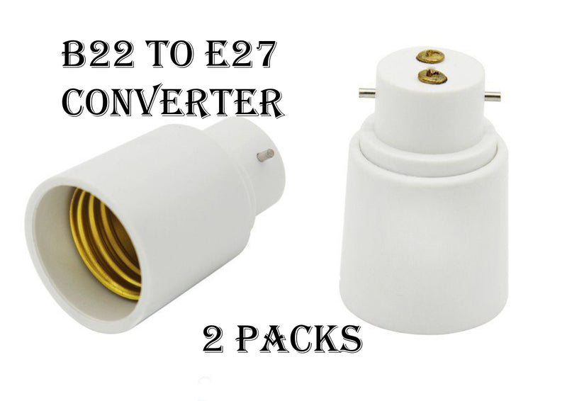 FluxTech - Lamp socket converter B22-E27 (Bayonet to Edison) Pack of 2