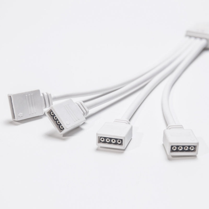 FluxTech - 4-Pin Y Power Splitter Cable for RGB LED Strip Light