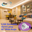 FluxTech - Smart Dimmable COB GU10 5.5W 60° Wide Beam Angle LED lamp [Energy Class A++]