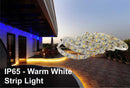 Waterproof IP65 High Power Warm White Colour Strip Light  - Low Voltage