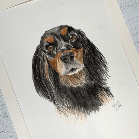 Dog portrait by Esmay Luck