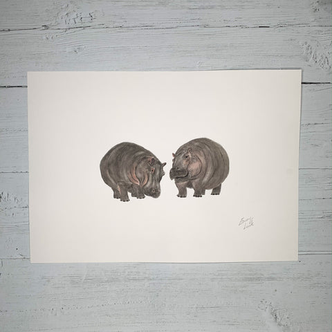 Hippos - Original (1 of 1)