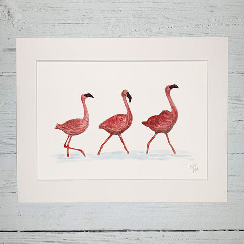 Flamingos - Fine Art Print