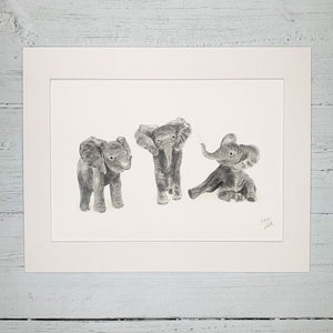 Baby Elephants - Fine Art Print