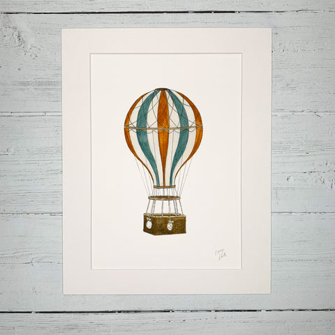 Hot Air Balloon - Fine Art Print