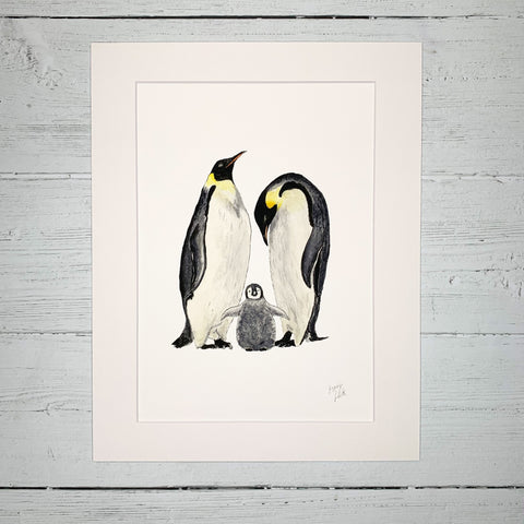 Penguin Family - Fine Art Print