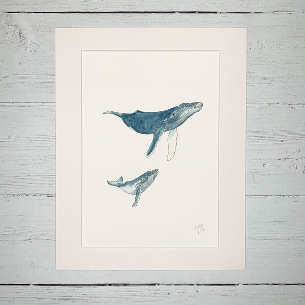 Mother & Baby Humpback Whales - Fine Art Print