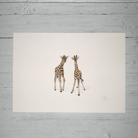 Baby Giraffes - Original (1 of 1)
