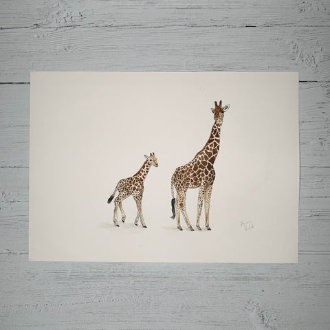 Big Giraffe & Baby Giraffe - Original (1 of 1)