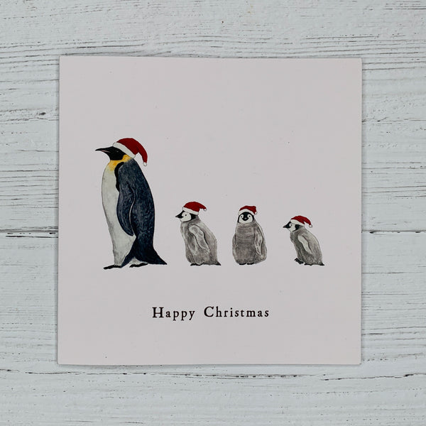 Festive Penguins Christmas Card