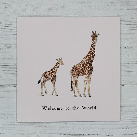 New Baby Giraffe, Greetings Card