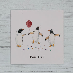 Party Time Penguins, Greetings Card
