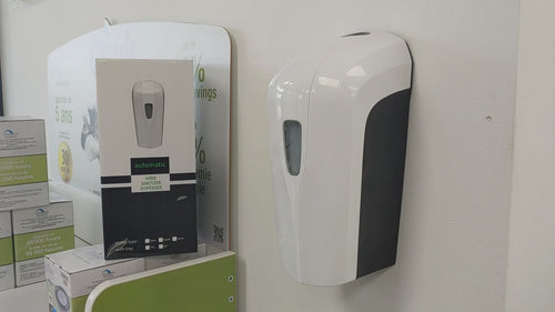 Automatic Hand sanitizer dispenser video in action.