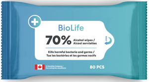 Made in Canada: 80 Pack Disinfectant Wipes : Personal size