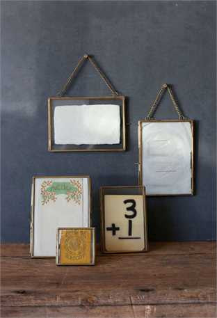 Frame with brass and chain to hang