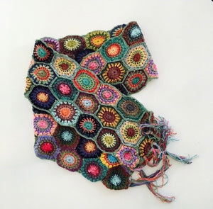 Accessories, crochet scarf