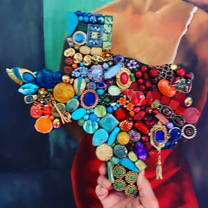Art, junk jewel Texas