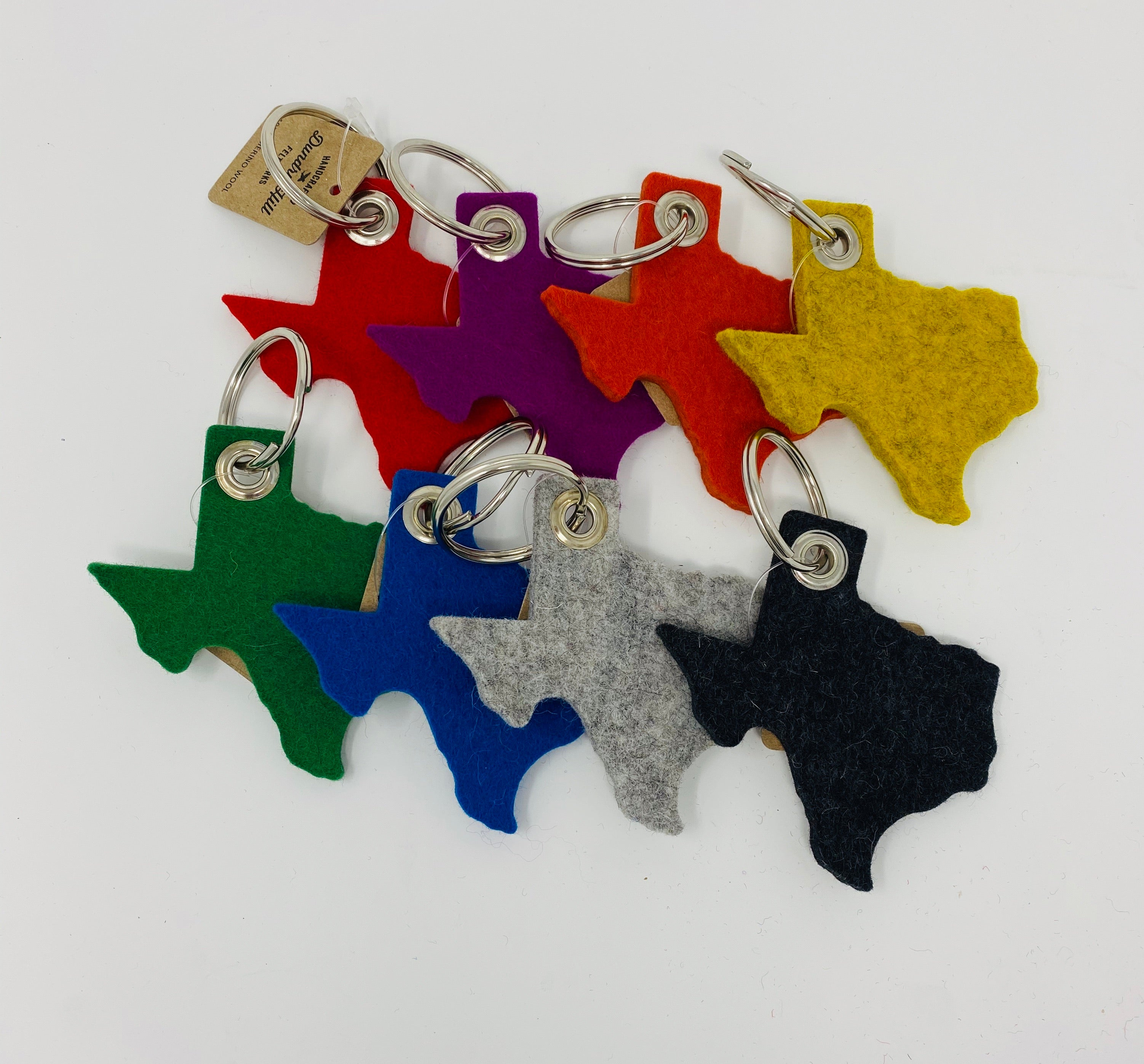 Accessories, felt Texas shape keychain