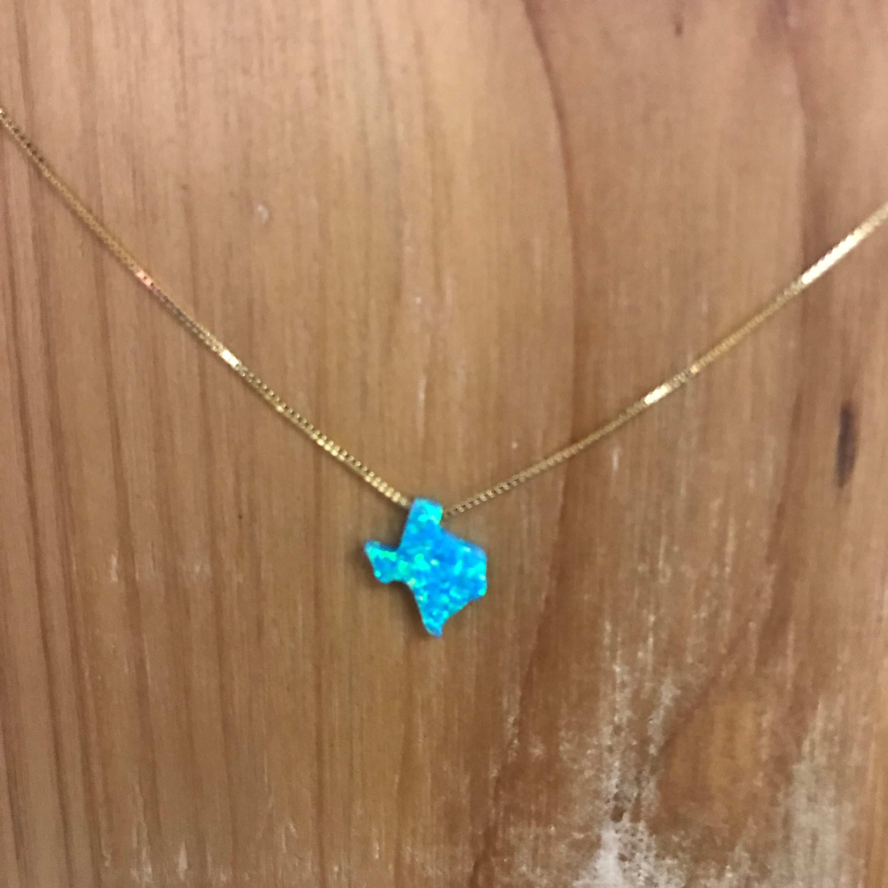 Jewelry, Texas opal necklace