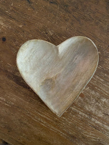 Home decor, mango wood heart bowl