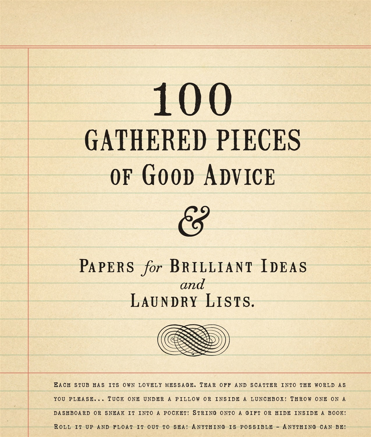 Paper, 100 pieces of gathered advice notepad