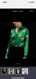 Apparel, animal print blouse, grass green or wet sand