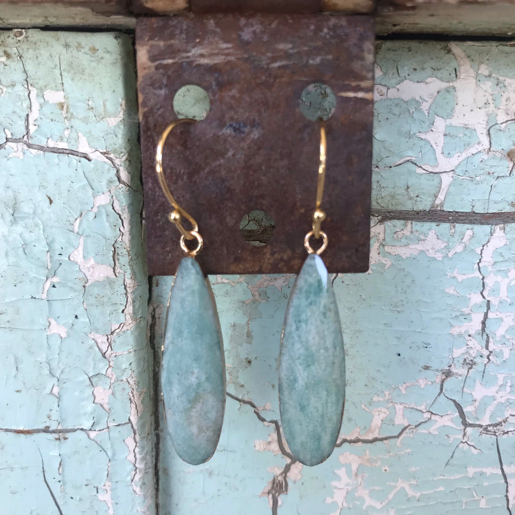 Jewelry, Amazonite drop earrings