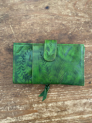 Accessories, tooled leather wallet