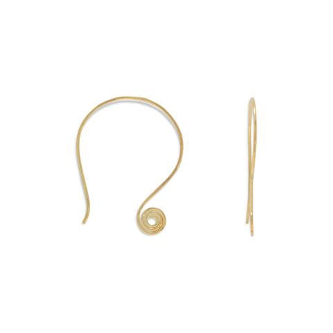 Jewelry, 14k gold filled wire coil earrings