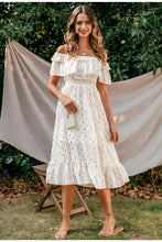 Load image into Gallery viewer, Sexy Off Shoulder Elegant Dot White Vintage Dress