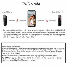 Load image into Gallery viewer, SmartMike+™ is the True Wireless Stereo Mic for Content Creators