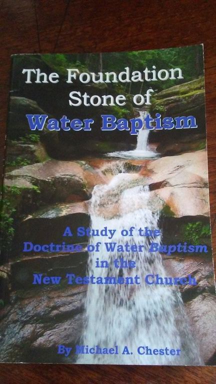 The Foundation stone of water baptism