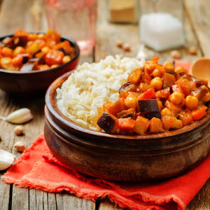 Eggplant, Pinenut, Chickpea and Tomato Tagine (1kg - 4 Serves)