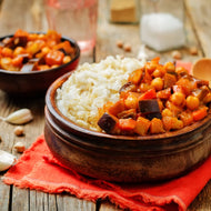 Eggplant, Pinenut, Chickpea and Tomato Tagine (600g - 2 Serves)
