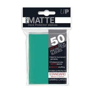 Card Game Accessories Ultra Pro 50ct Pro-Matte Aqua Standard Deck Protectors