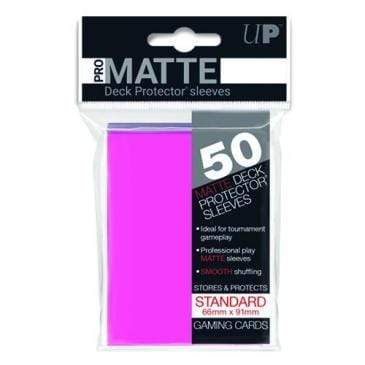 Card Game Accessories Ultra Pro 50ct Pro-Matte Bright Pink Standard Deck Protectors