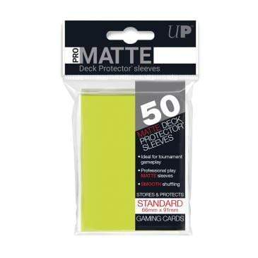 Card Game Accessories Ultra Pro 50ct Pro-Matte Bright Yellow Standard Deck Protectors