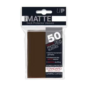 Card Game Accessories Ultra Pro 50ct Pro-Matte Brown Standard Deck Protectors