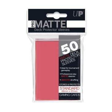 Card Game Accessories Ultra Pro 50ct Pro-Matte Fuchsia Standard Deck Protectors