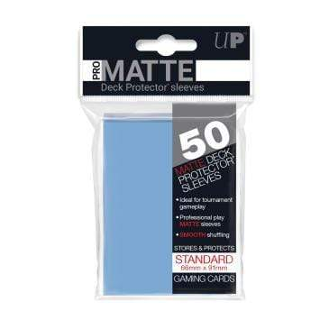 Card Game Accessories Ultra Pro 50ct Pro-Matte Light Blue Standard Deck Protectors