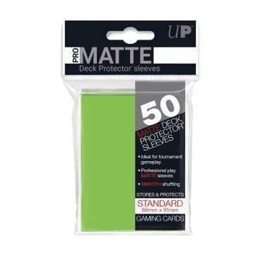 Card Game Accessories Ultra Pro 50ct Pro-Matte Lime Green Standard Deck Protectors