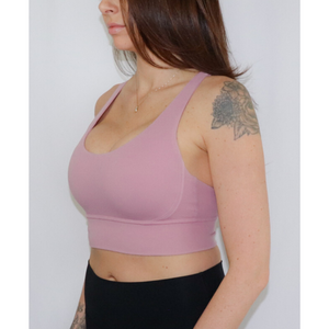 BASE Sports Bra - Pink Taupe - BASEATHLETE