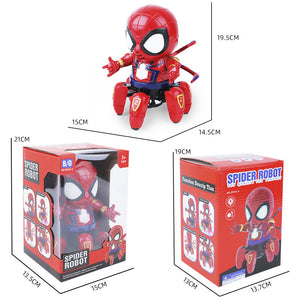 Electric dancing six-claw spiderman robot toy
