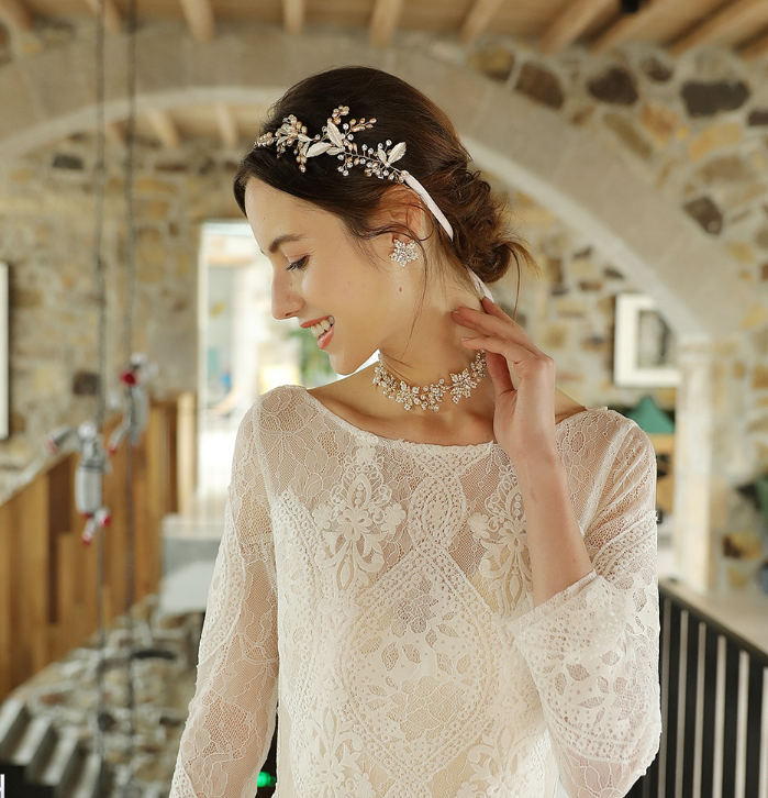 (Free Shipping 45% OFF)Handmade hair band-Cocktail wedding dress
