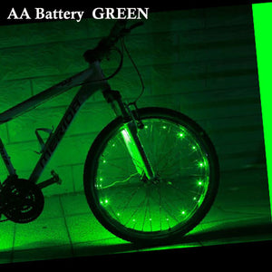 Colorful bicycle wheel lights (20 LED lights)